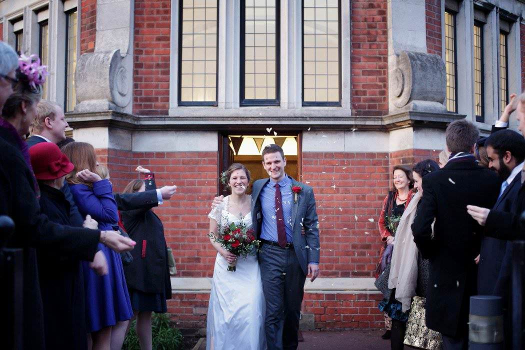 Flowers by Jennifer Pinder A christmas winter wedding at the Dulwich College Old Library in Dulwich Village, London. Photo by Ben Joseph.