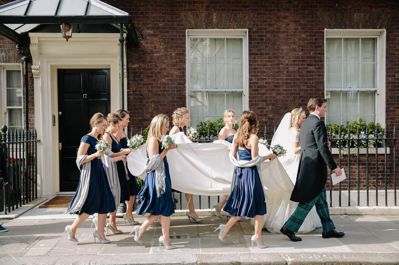 kent florist Jennifer Pinder London wedding in Dartmouth house spring flowers in blue and white 12.png