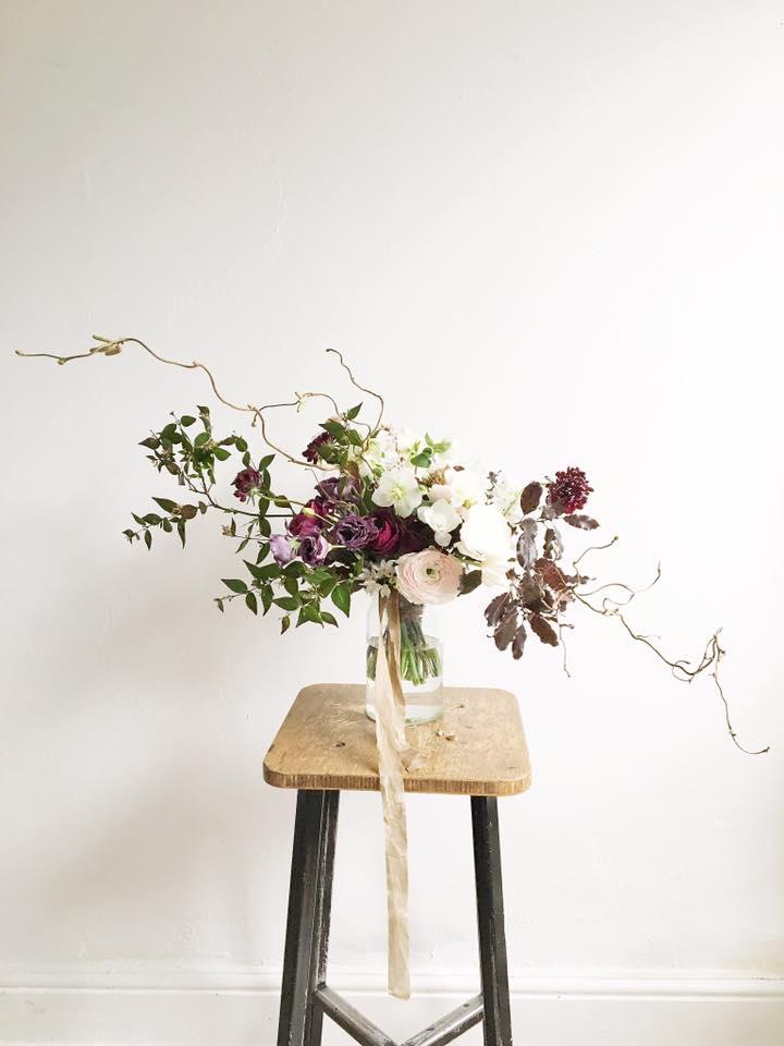 Picture by Floribunda Rose of her bouquet at Jennifer Pinder floristry workshop