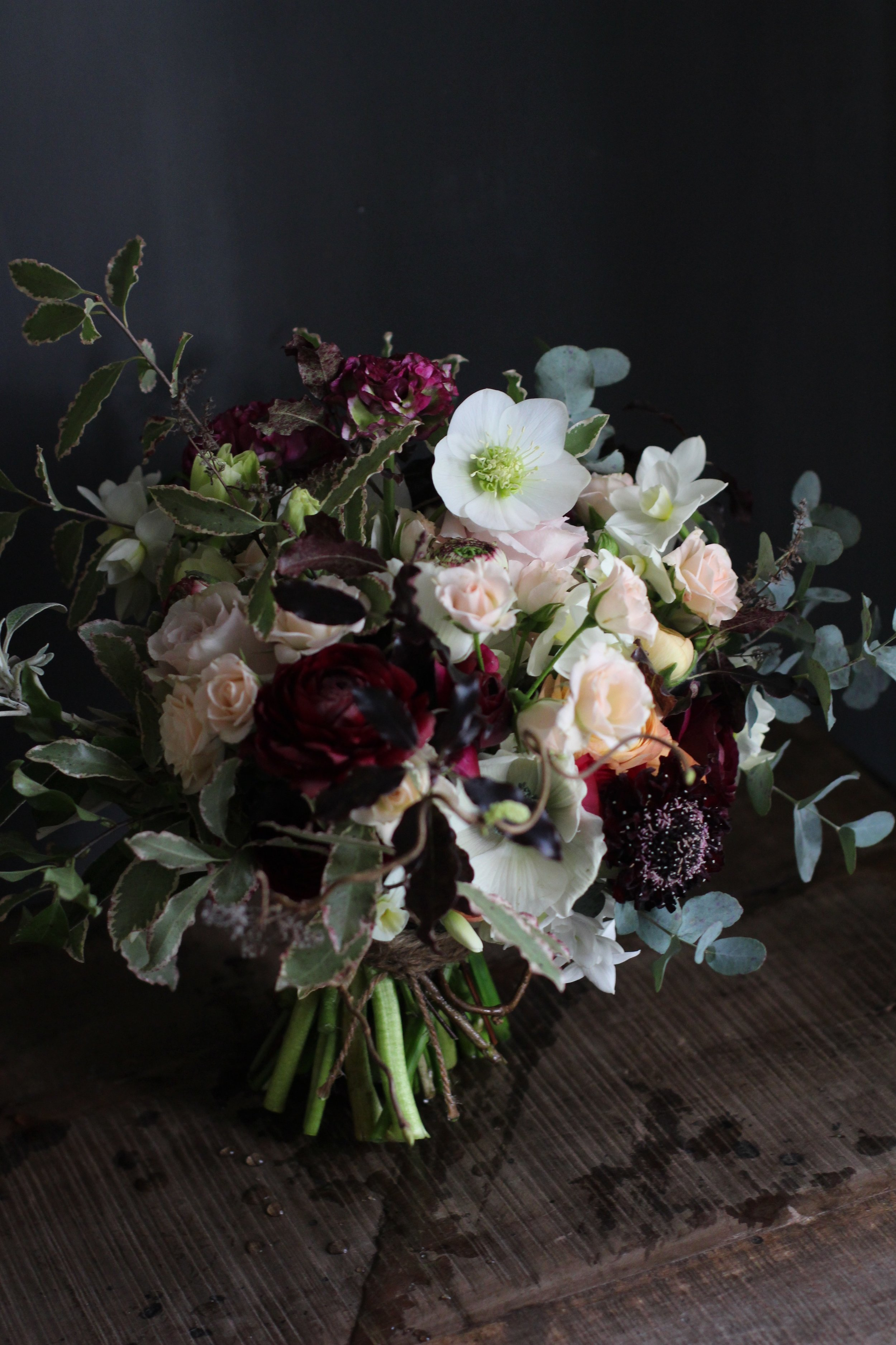 kent wedding flowers by florist Jennifer Pinder quirky bouquet