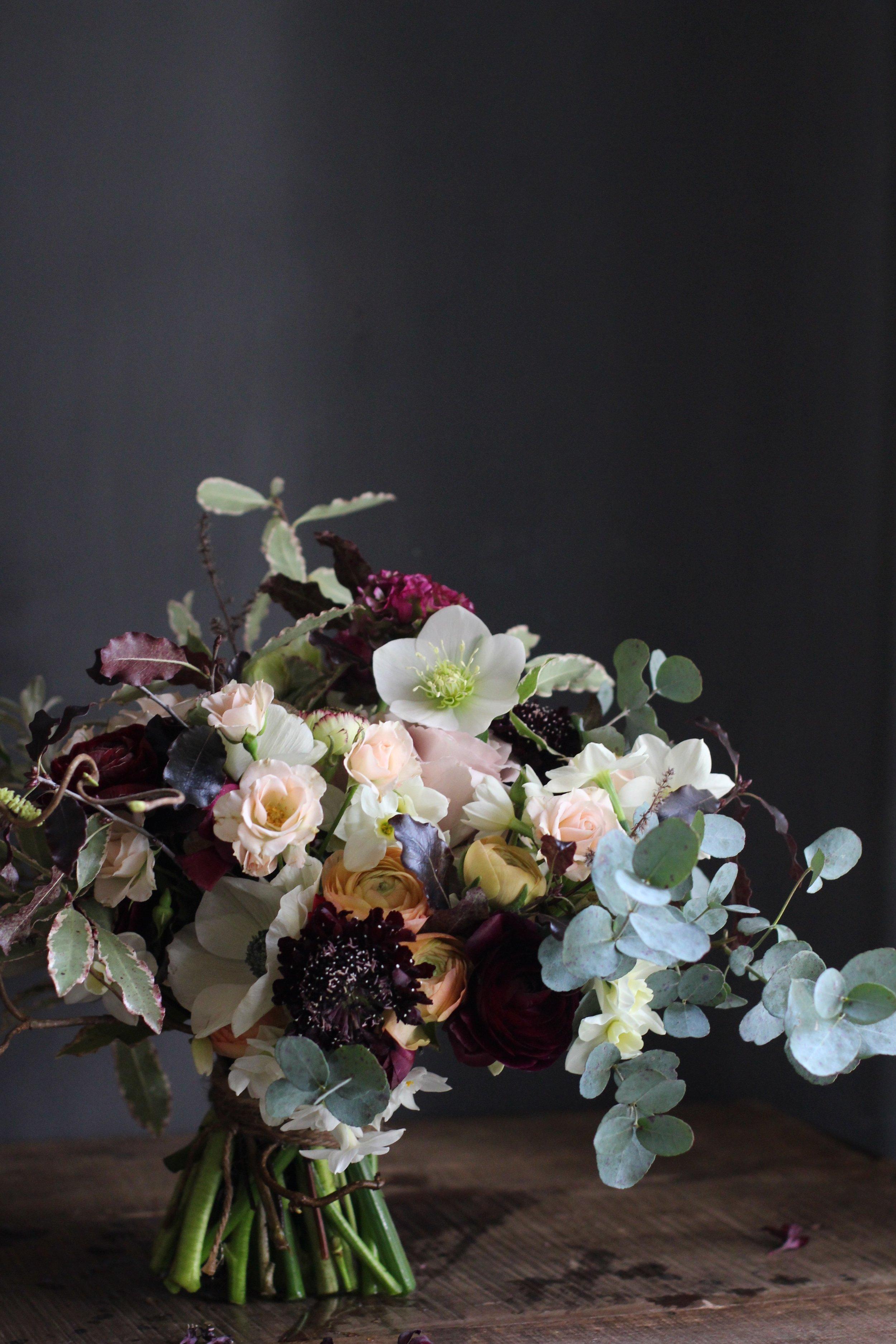 Kent wedding flowers unusual spring bride