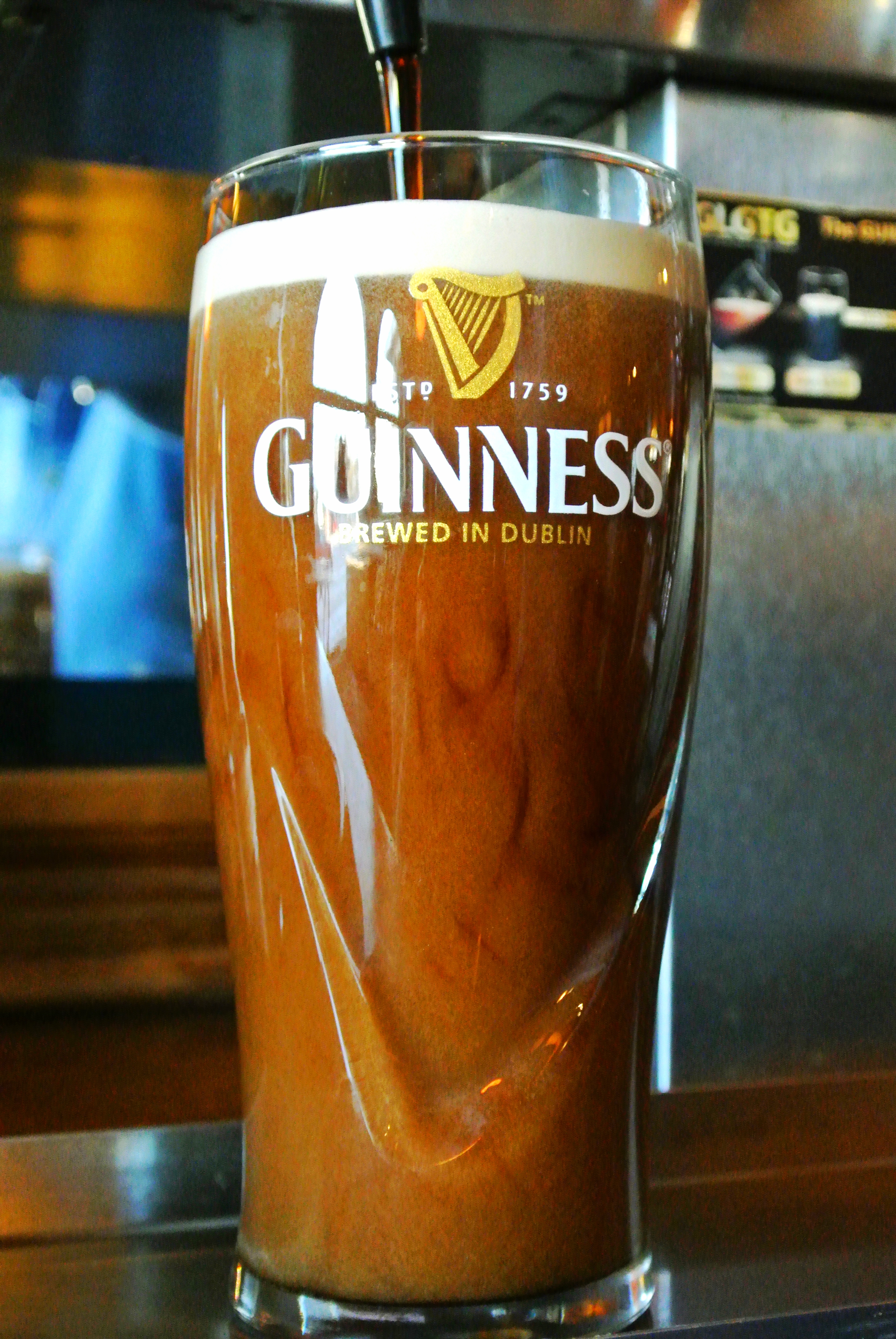 Stop in for a Pint!    Just like in Ireland, we serve our     taps in 20oz pints.