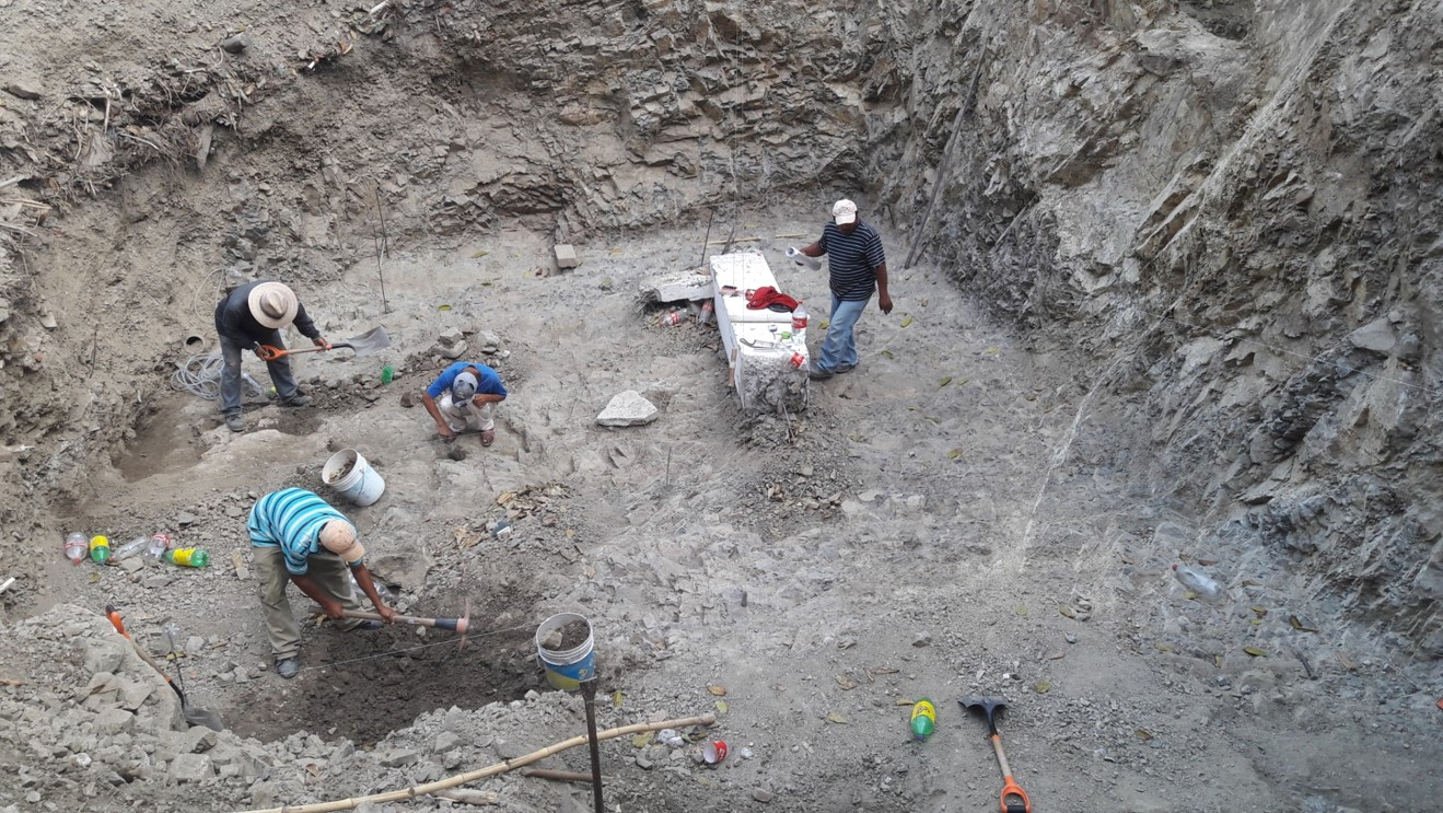 "Excavations for Building ""A"" Foundations"