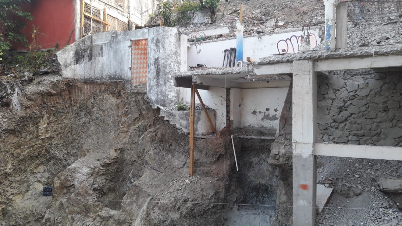 "Excavations for Building ""A"" Footings"