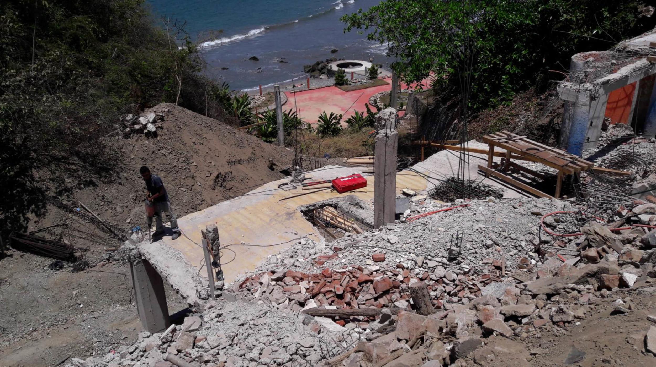 Demolition of existing slab