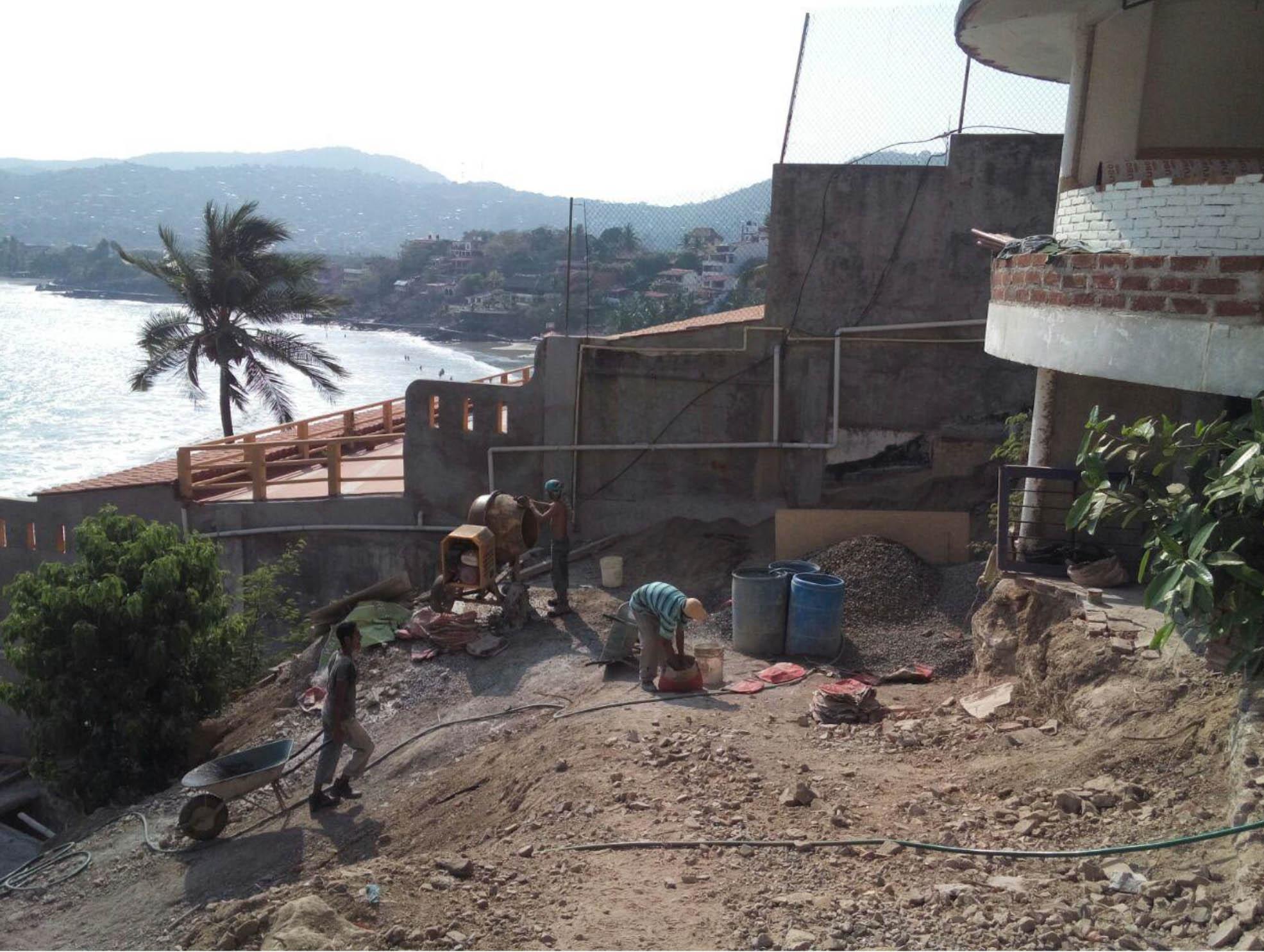 Making concrete at site