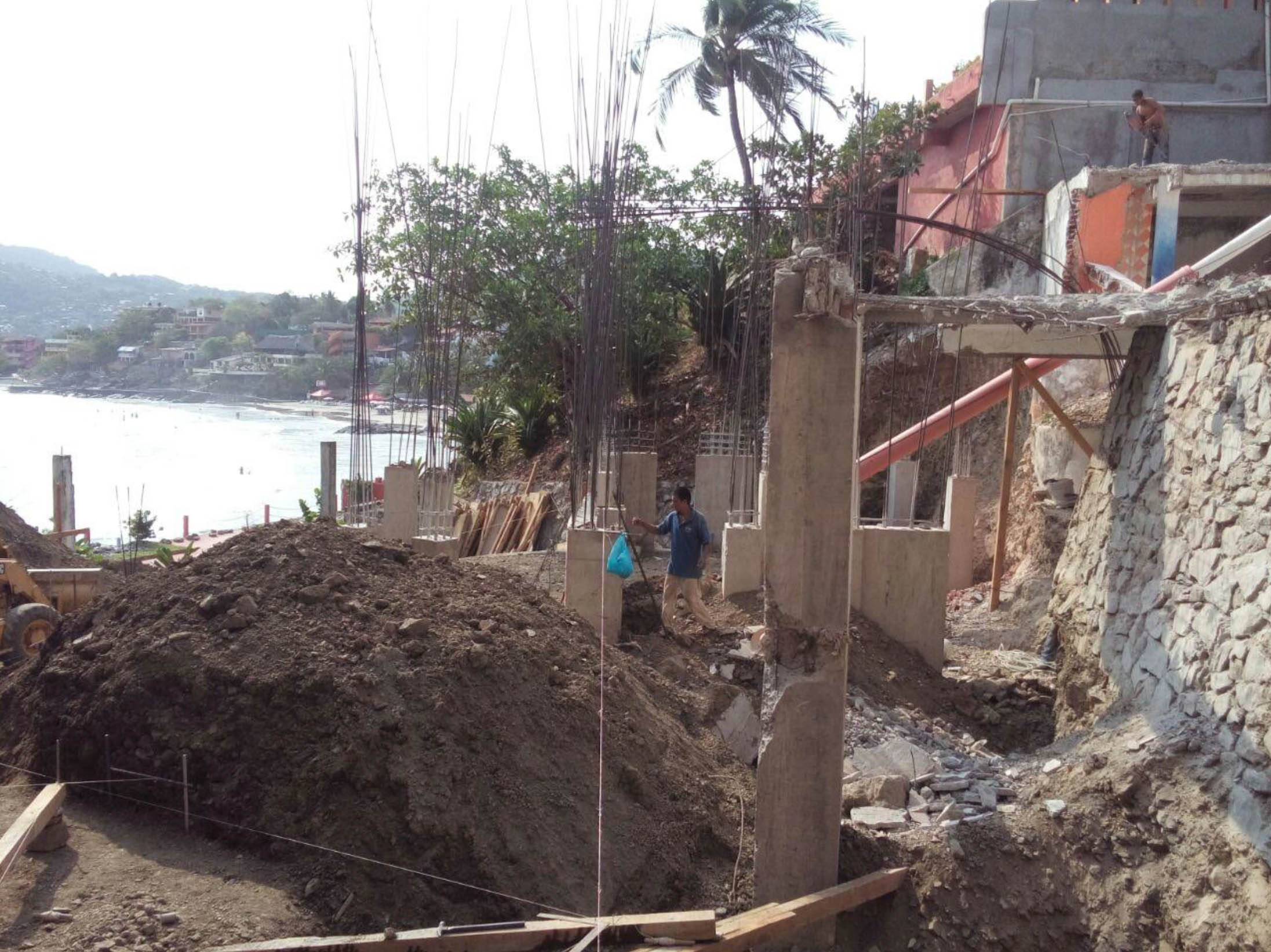 Excavation for tank´s foundation