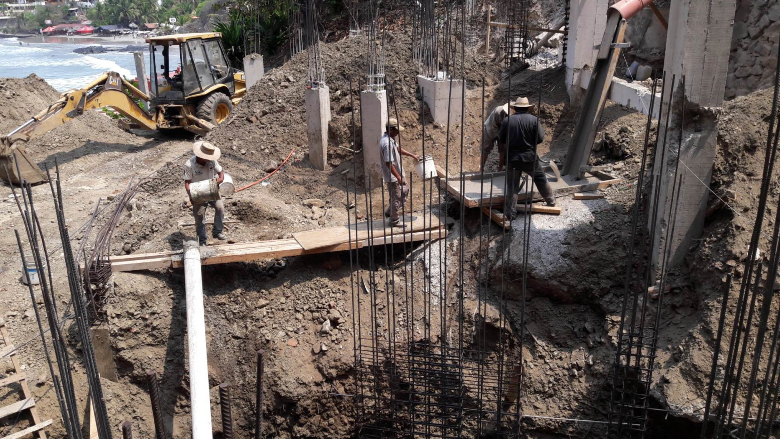 Placing Foundations of Building A