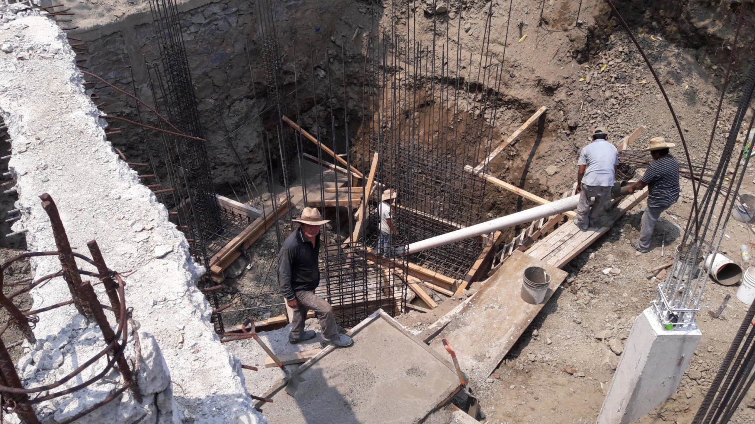 Placing Foundations for Binding Beam