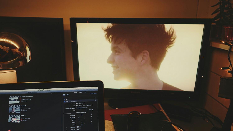 Nathan op het scherm
