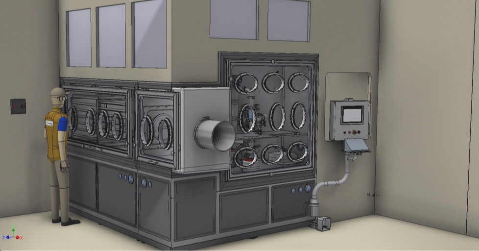 Fully customized high containment micronization suite
