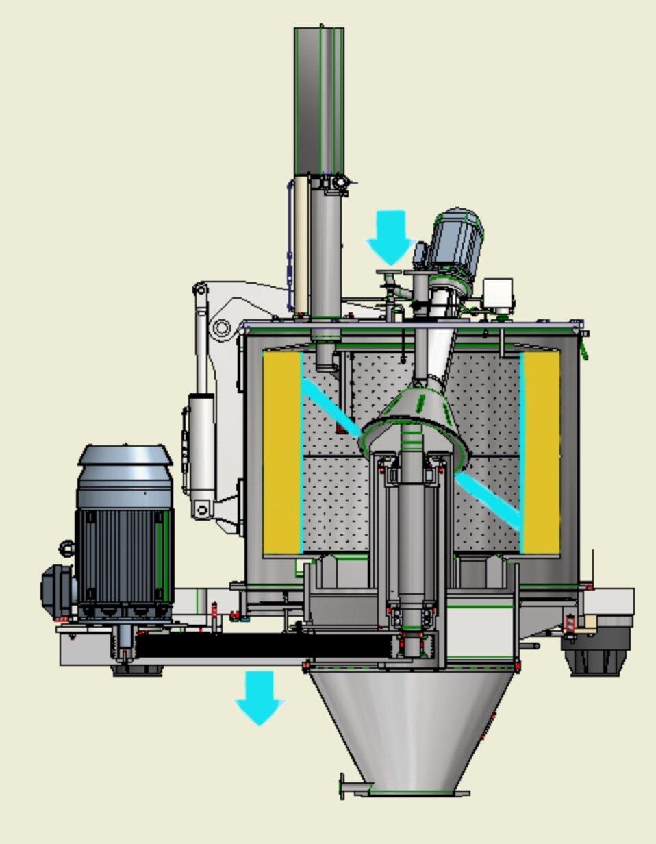 Essoreuse centrifuge Comi Condor TM Lavage du gateau.jpg