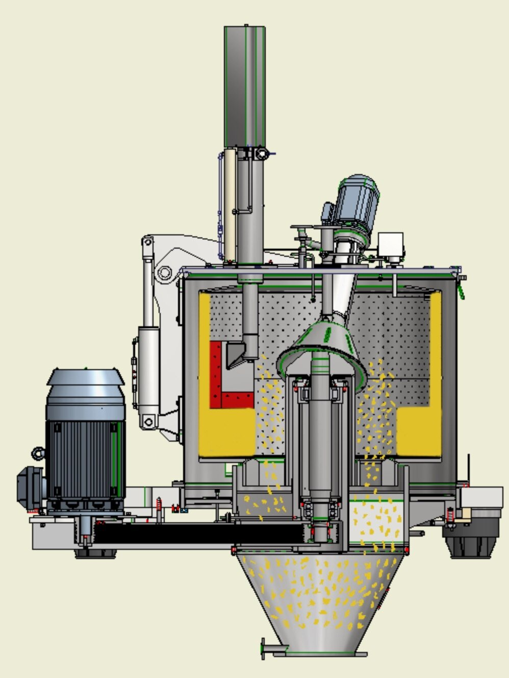 Essoreuse centrifuge Comi Condor TM Déchargement