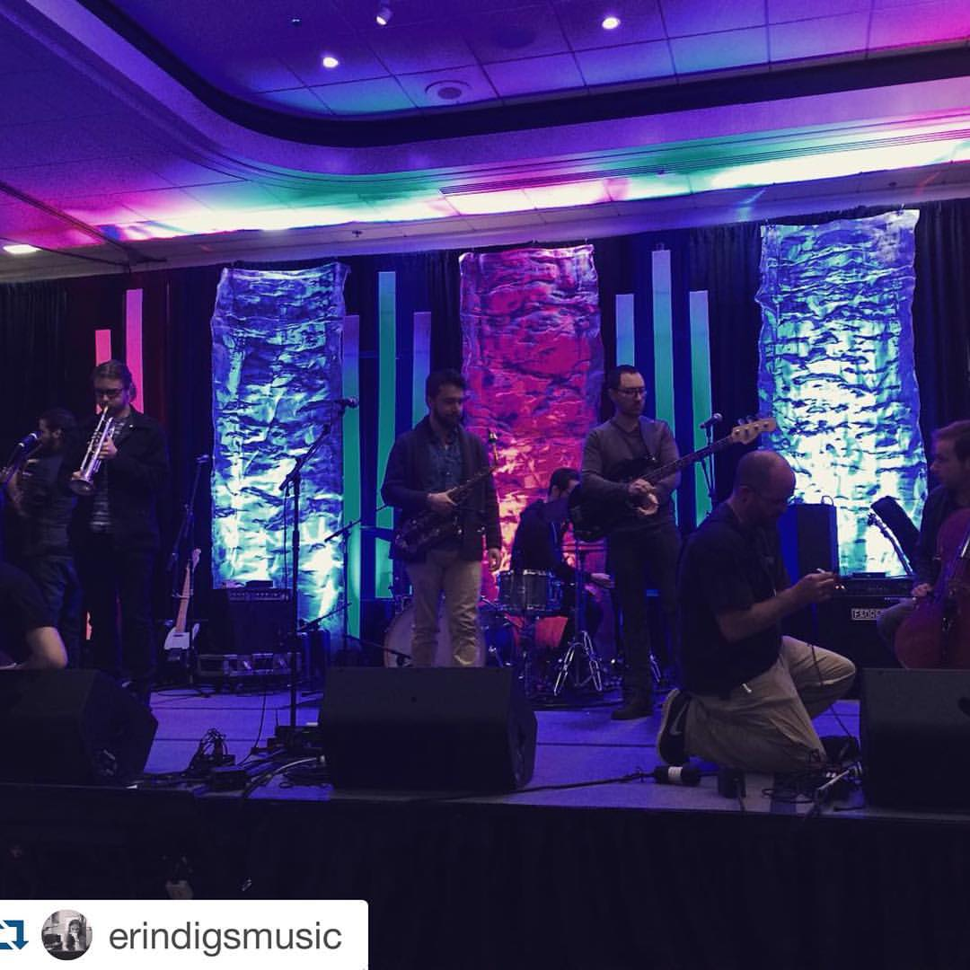 #Repost @erindigsmusic  ・・・  Sound check with @marcplotkin at APCA northeast, looking and sounding awesome #apcane15