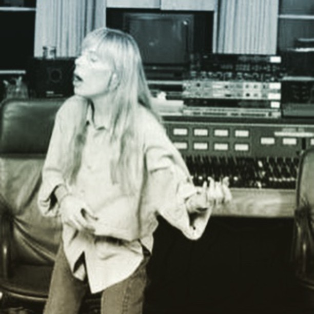 It's important to hear it in your head first :-)    #JoniMitchell #RecordingStudio #Music #AirGuitar #Guitar #SingerSongwriter