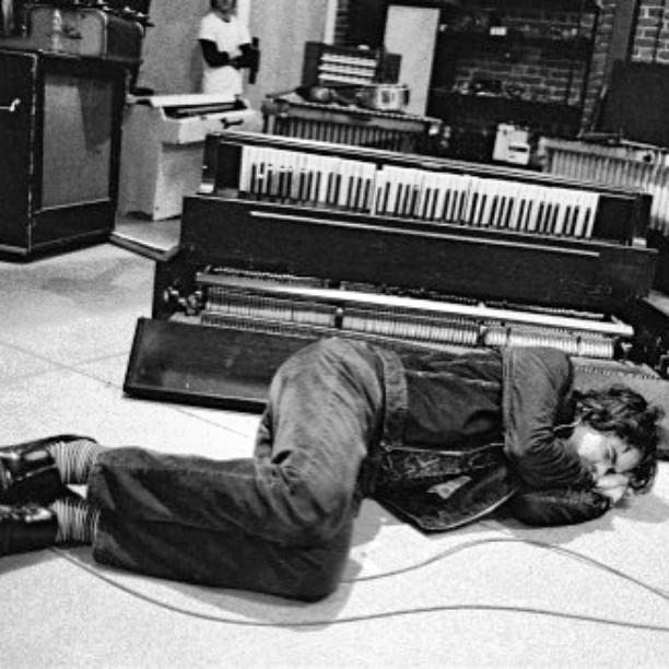 "Listen to ""Phone Call"" on the Eternal Sunshine soundtrack.    #jonbrion #recordingstudio #piano  #music #producers #eternalsunshineofthespotlessmind"