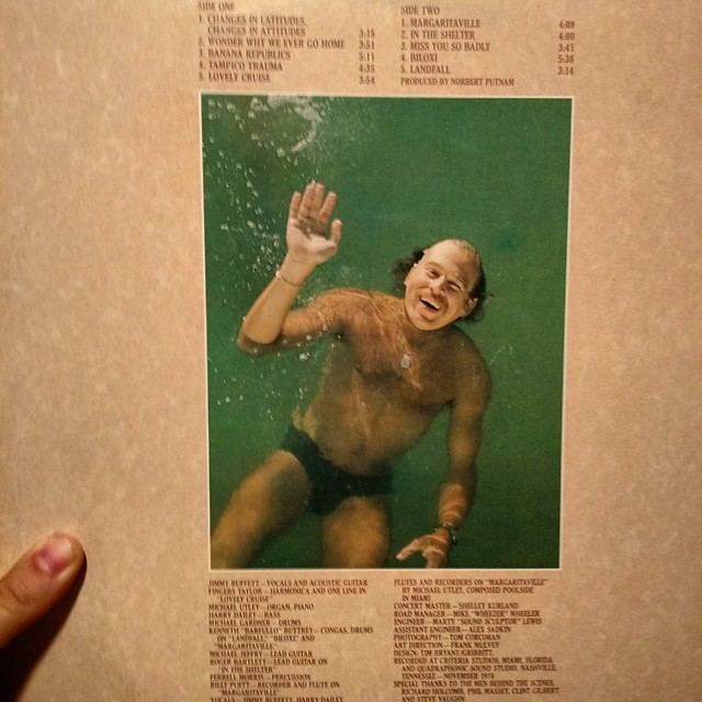 Scariest record back cover ever? #dadsjimmybuffetalbums