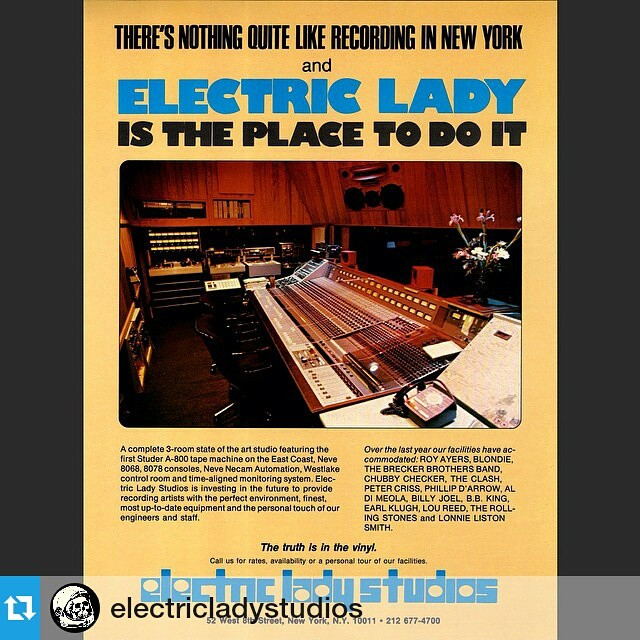 """#Repost @electricladystudios  ・・・  """"the truth is in the vinyl"""" • 1980 advertisement • #electricladynyc"""