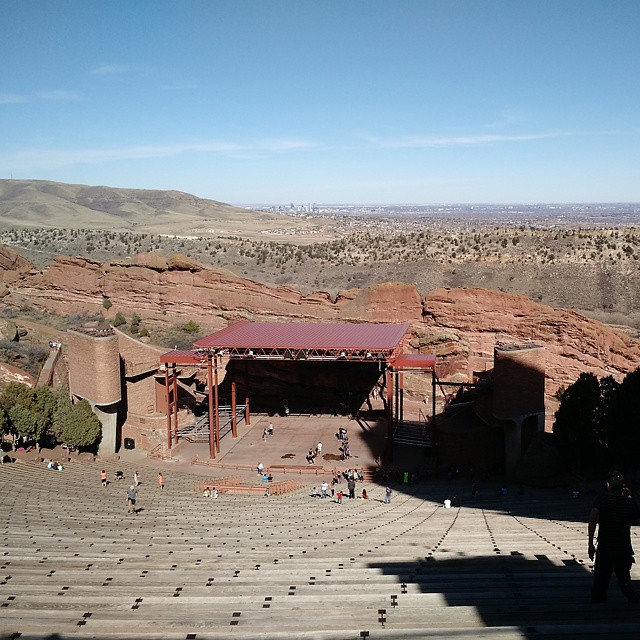 City and stage (at Red Rocks Park and Amphitheatre)