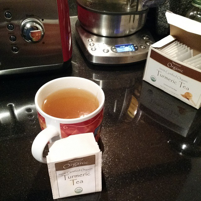 Turmeric Tea. Delicious in your mouth, healthy in your body, stains your cups.