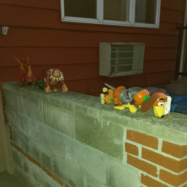 Interesting decorations outside my apartment today…
