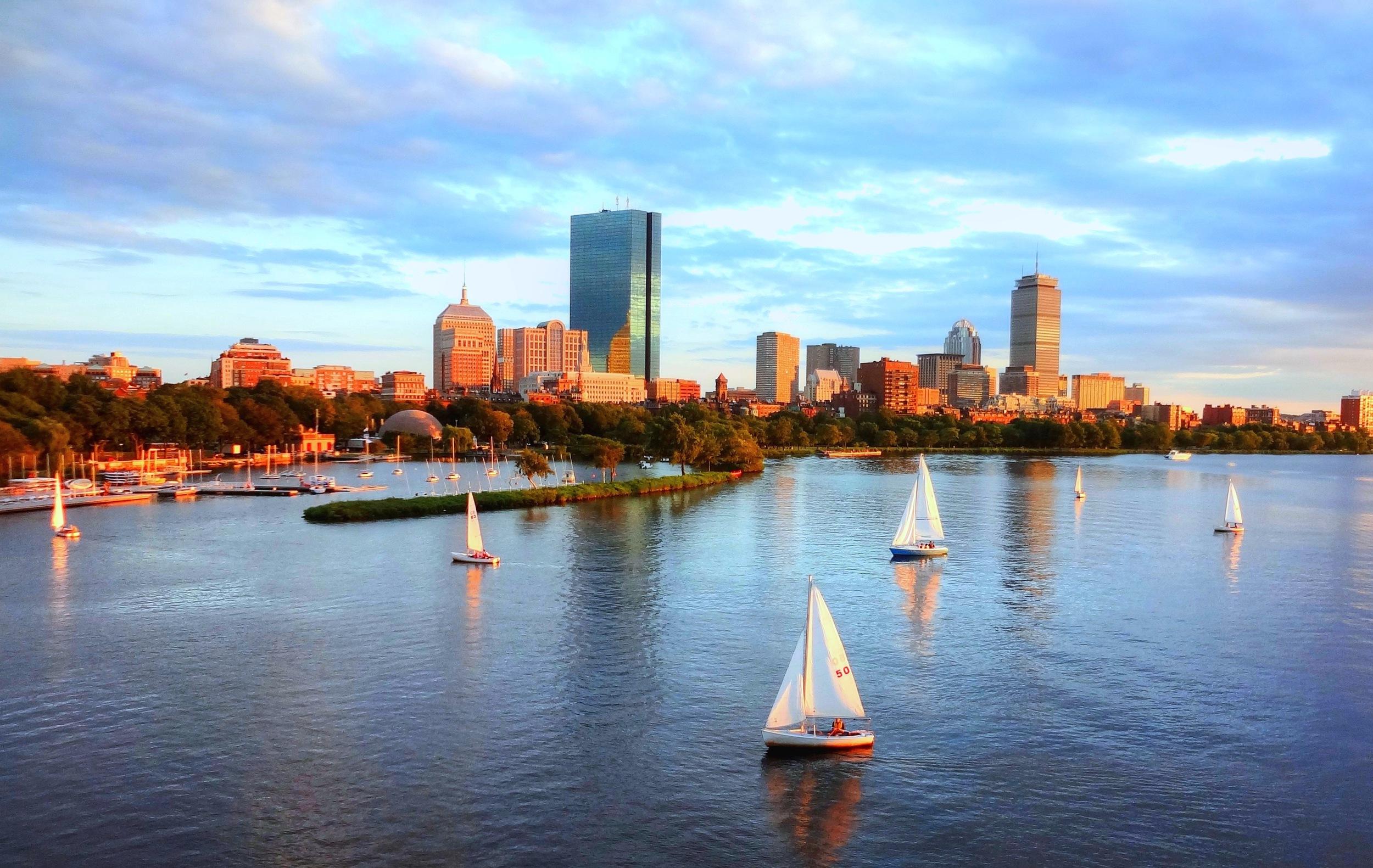 Back Bay and Charles River, Boston, MA