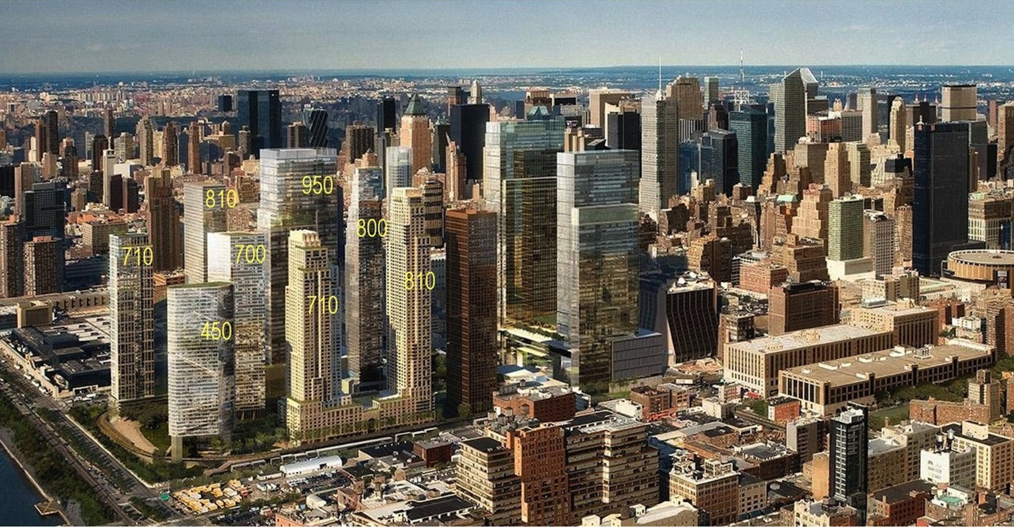 Rendering of proposed development on the Hudson Yards site   [Related Companies / Hudson Yards Development Corp.]