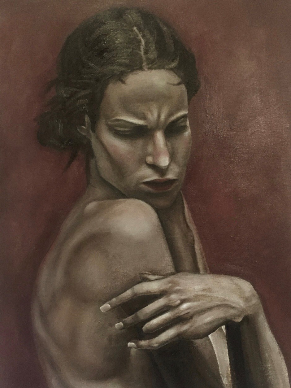 Tessa  by Sadie Kramer   Tessa  is oil on canvas.