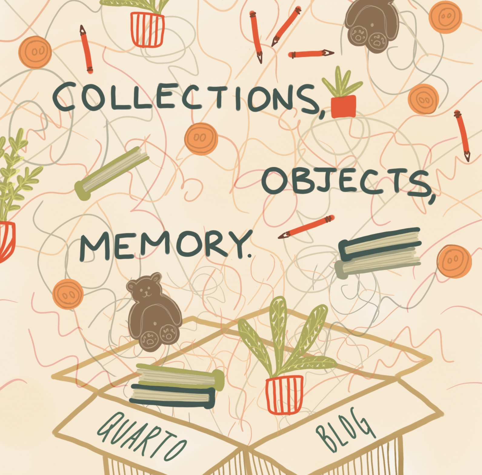 Collections, Objects, Memory  by Catherine Valdez  Mostly because I was curious, I made this post about collections and things. I asked Quarto staff what objects they've accumulated and why these things have become important to them: