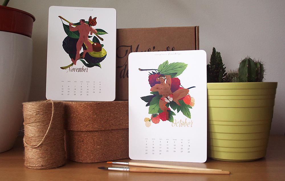 Messieurs des Fruits - Illustrated Pinup Calendar