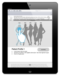 Approach 1:   Patient journey focused on helping the HCP identify the ideal patient for Skyla.