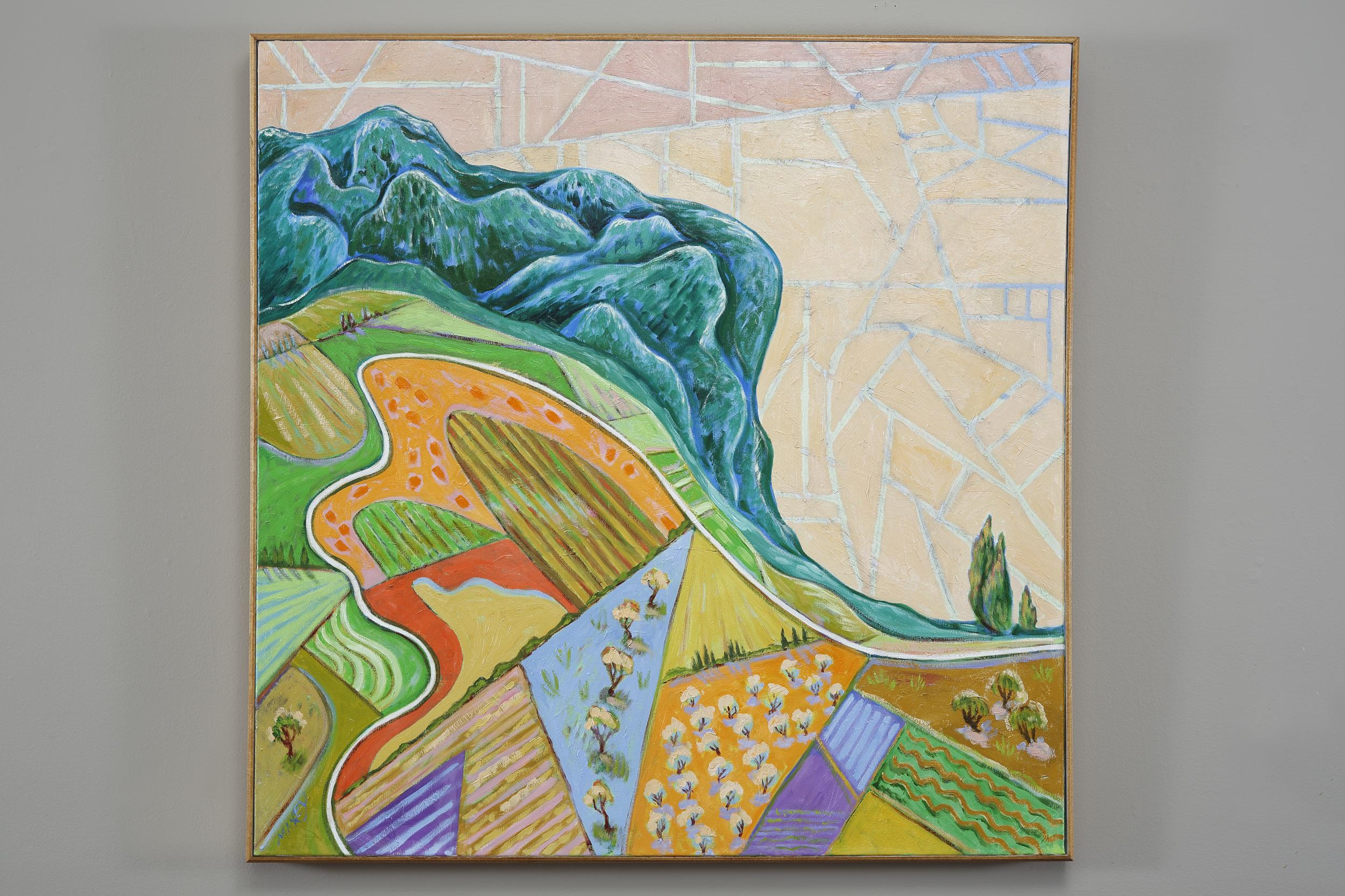 Fields above Friuli, oil on canvas, 36 x 36