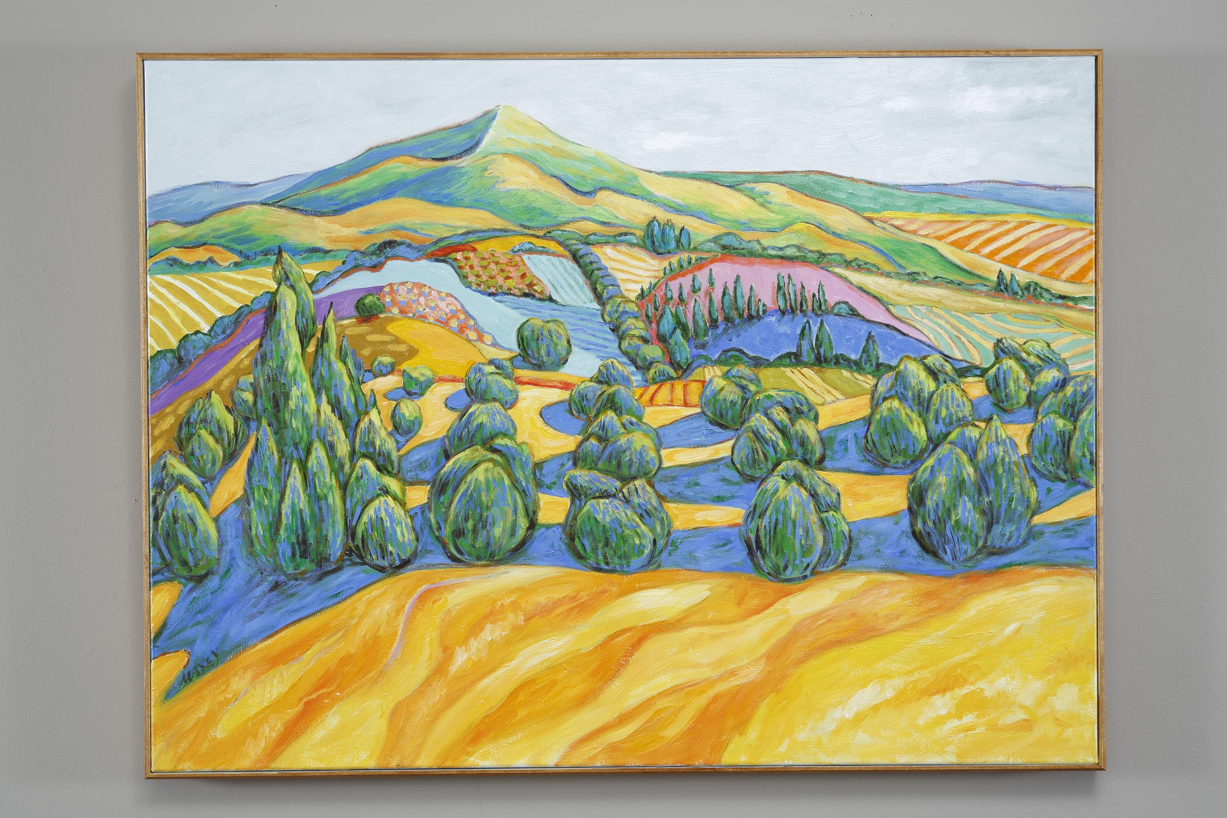 Cypress Farm in Tuscany, oil on canvas, 30 x 40