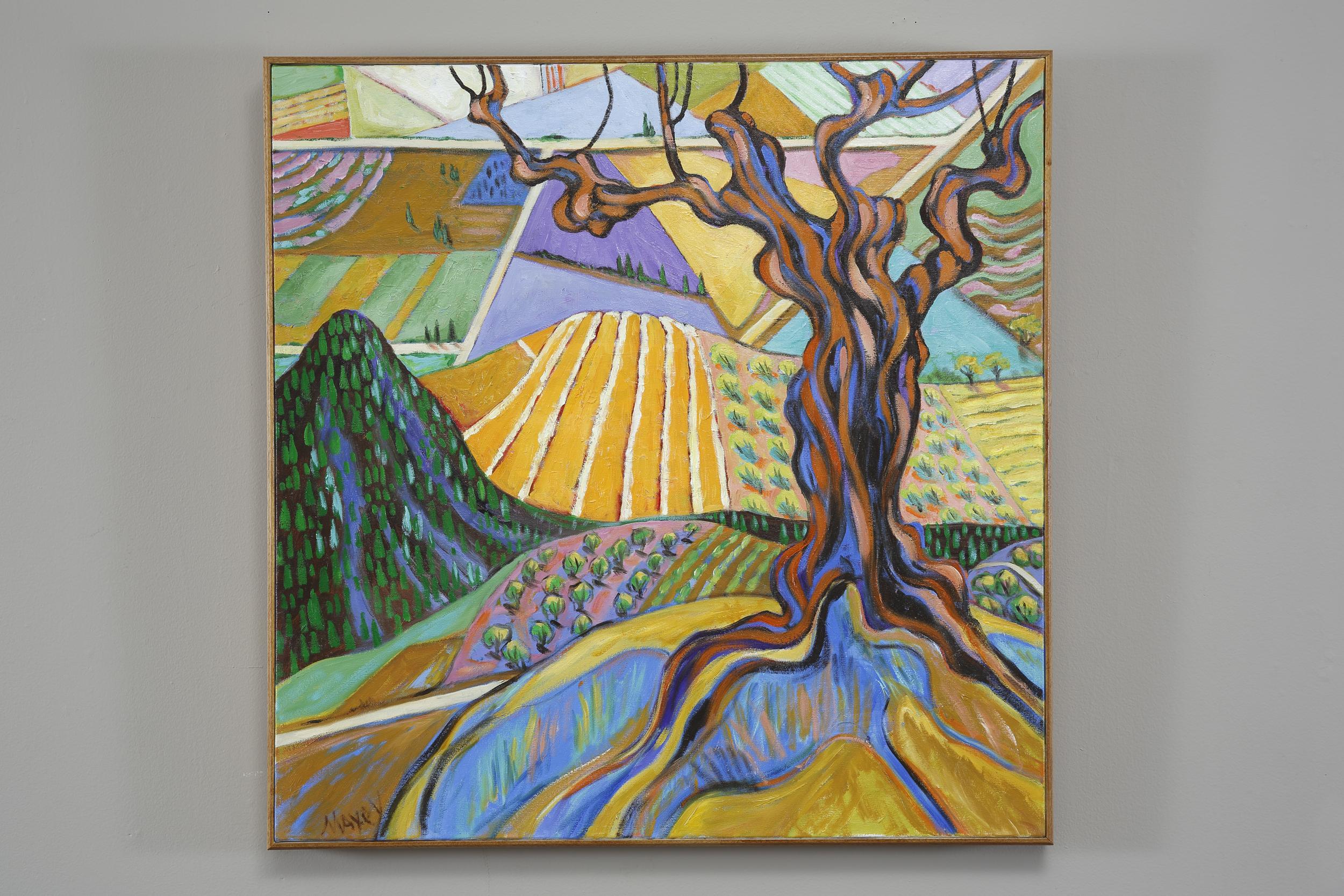 Old Olive Tree at La Mandrie, oil on canvas, 30 x 30
