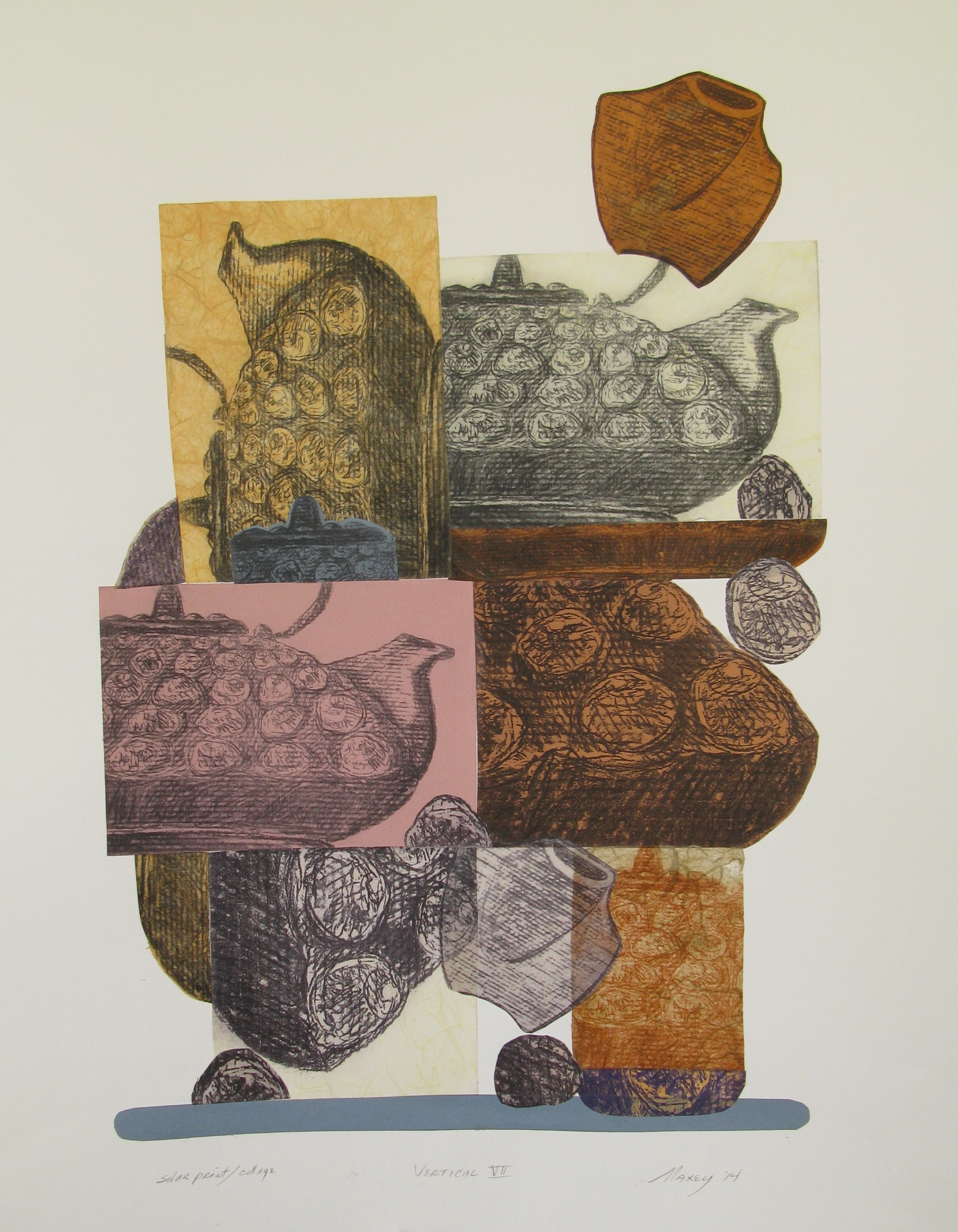 "Print collage, 22""h x 16""w, 2013"