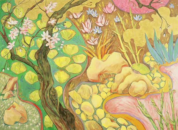 Asian Dogwood Spring, oil on linen, 36 x 48