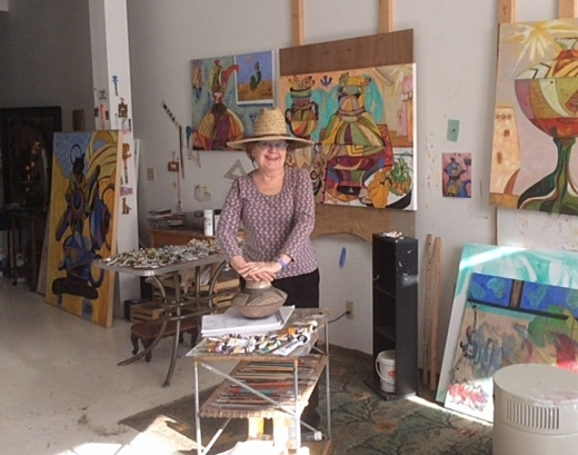 Madolin in her Providence studio