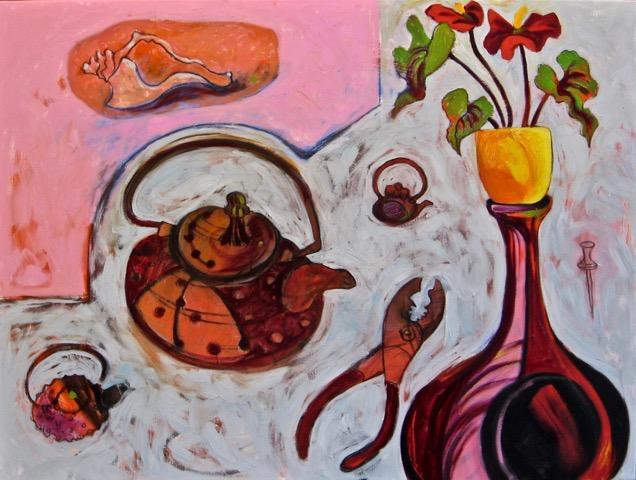 Pink Blue Studio Table