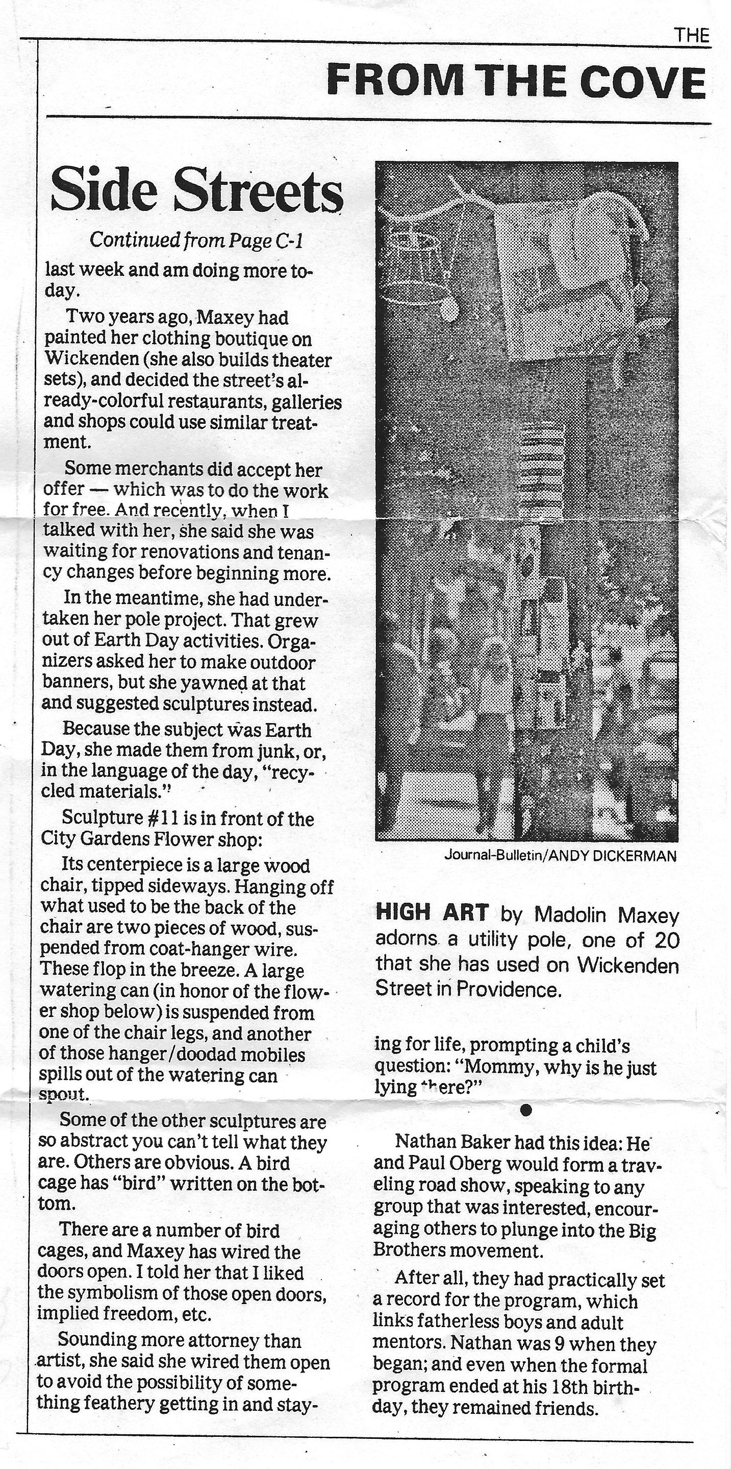 Providence Journal Bulletin June 13, 1993