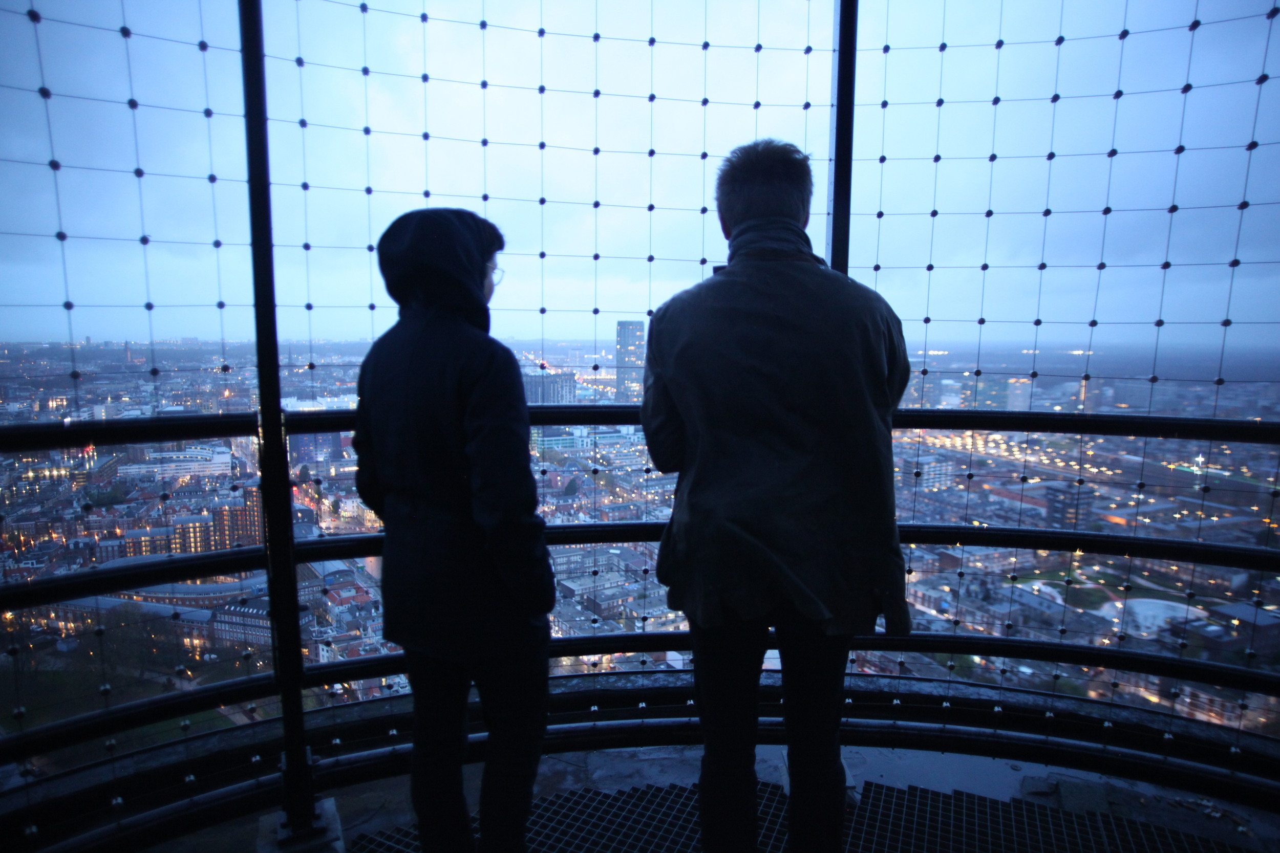 Chris and Nathan looking over The Hague