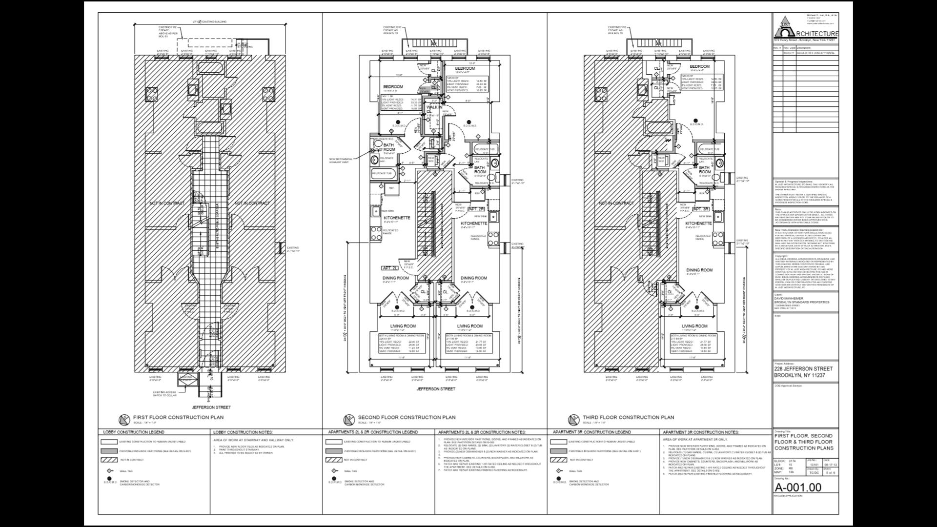 Proposed Layout: 1st floor, 2nd floor, 3rd floor