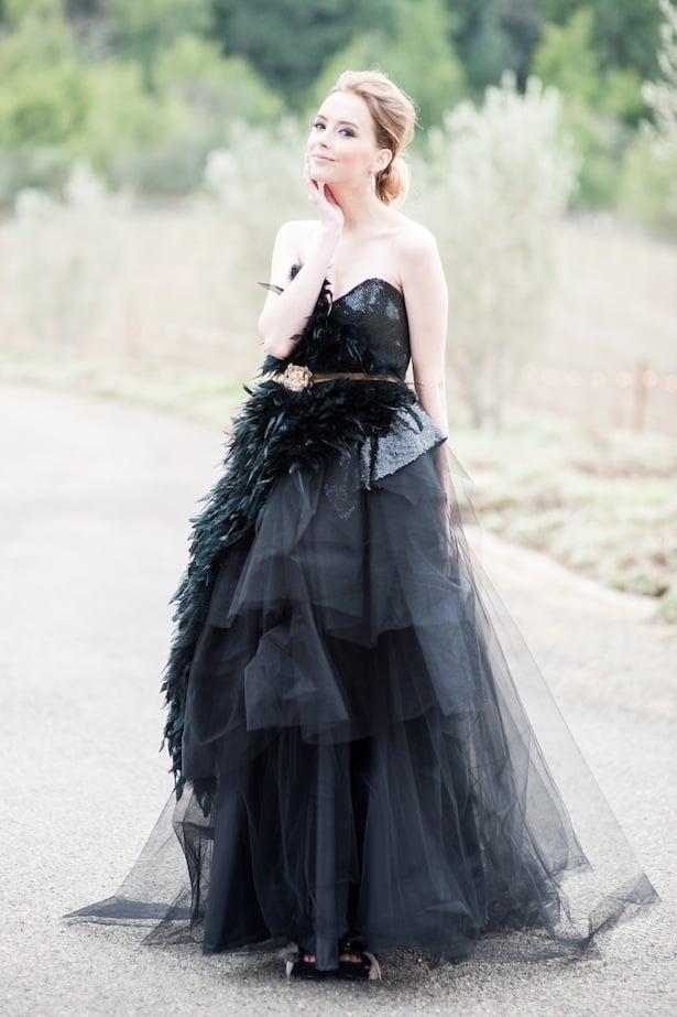 Angel Oak wedding gown  in Black