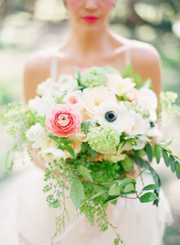 Fresh bouquet with Chambord gown