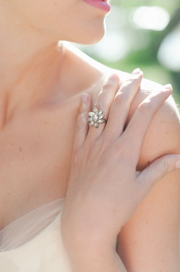 Unique engagement ring with Chambord gown