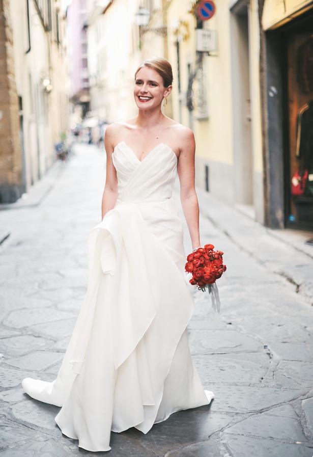 Carol Hannah - Poplar gown - Real wedding in Tuscany