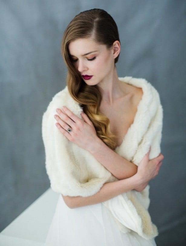 Bridal accessories that shine - Carol Hannah - Faux fur bridal shrugs
