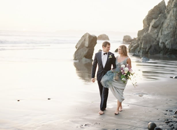 Carol Hannah Real Wedding Inspiration - Downton gown at the California Coast