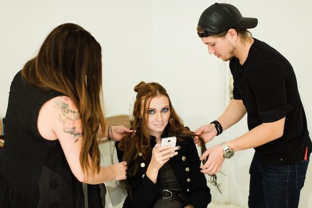 Behind the scenes Carol Hannah 2015 runway show