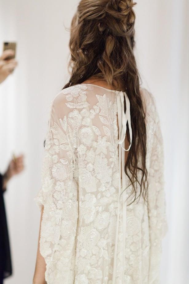 Behind the scenes Carol Hannah 2015 runway show - Iolite caftan