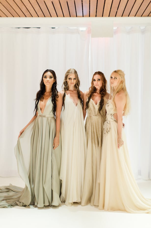 Behind the scenes Carol Hannah 2015 runway show- Azurite, Celestine, Pyrite, and Gypsum